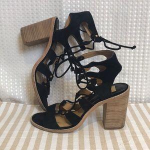 Revolve Dolce Vita Lyndon Black Gladiator Heel 9